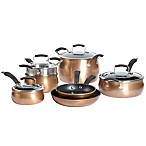Epicurious Aluminum Nonstick 11-Piece Cookware Set in Copper