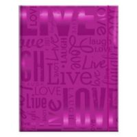 """Live Love Laugh"" 100-Photo Embossed Photo Album in Purple"