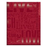"""Live Love Laugh"" 100-Photo Embossed Photo Album in Red"