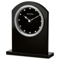 Bulova Ebony Crystal Table Clock