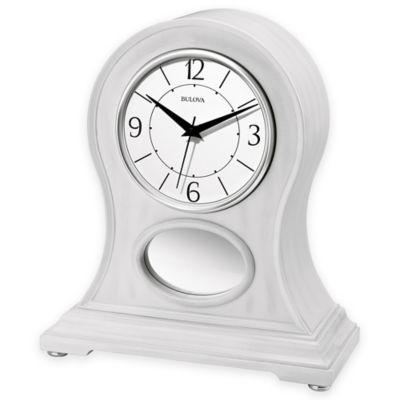 Bulova Merrick Mantel Clock In White