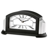 Bulova Astor Mantel Clock in Black/Silver