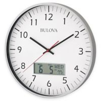 Bulova Manager Wall Clock in Brushed Aluminum