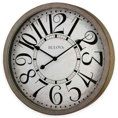 Bulova Westwood Wall Clock in Antique Grey