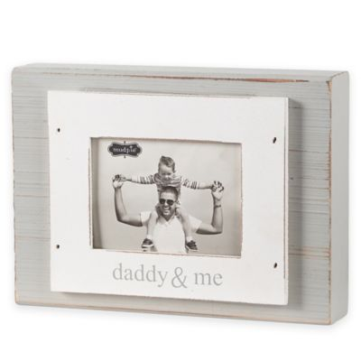 mud pie daddy me 3 inch x 4 inch wood block