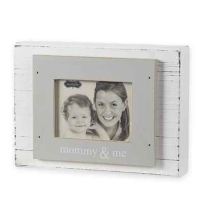 "Mud Pie ""Mommy & Me"" 3-Inch x 4-Inch Wood Block Photo Frame"