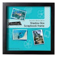 8-Inch x 8-Inch Shadowbox Scrapbook Frame in Black