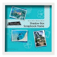 12-Inch x 12-Inch Shadowbox Scrapbook Frame in White