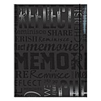 """Cherished Memories"" 100-Photo Embossed Photo Album in Black"