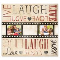 """Live Laugh Love"" Filmstrip 20-Photo Album in Beige"