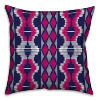 Boho Tribal Square Throw Pillow in Purple/Pink