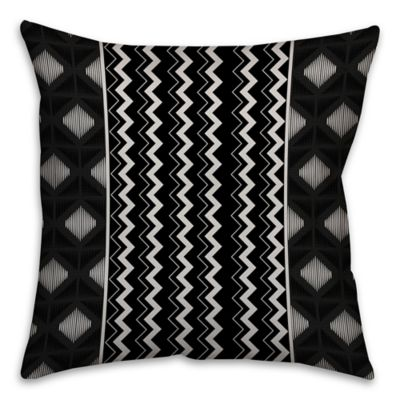 soft decorative pillows. Chevron and Diamonds Boho Tribal Square Throw Pillow in Black White Buy Soft Decorative Pillows from Bed Bath  Beyond