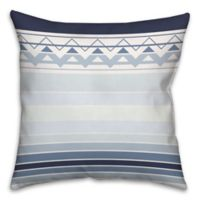 Sea Level Gradient Chevron Square Throw Pillow in Blue/White