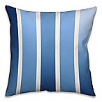 Spectrum Stripes Throw Pillow in Navy