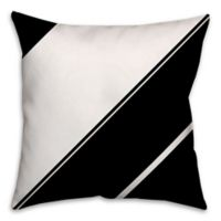 Angled Stripes Throw Pillow in Black/White