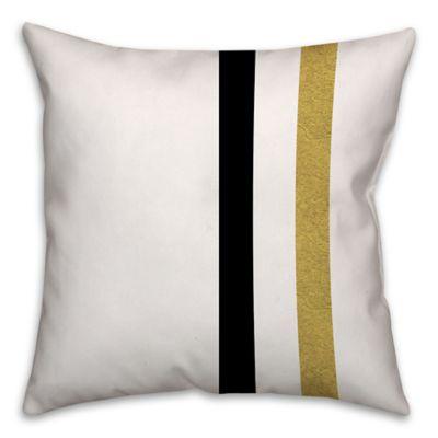 retro color block stripes square throw pillow