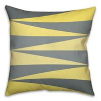 Checkered Angles Square Throw Pillow in Grey/Multi