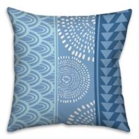 Boho Tribal Throw Pillow in Blue