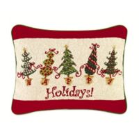 """Holidays!"" Dancing Christmas Tree Oblong Throw Pillow"