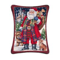 Highlands Santa Rectangular Throw Pillow