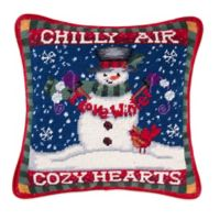 Snowman in Chilly Air Needlepoint Throw Pillow