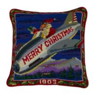100 Years of Flight Hand-Stitched Needlepoint Throw Pillow