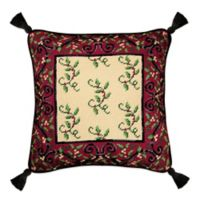 Holiday Garden Square Throw Pillow