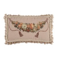 Pumpkin and Fruit Needlepoint Throw Pillow