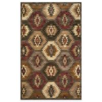 Rizzy Home Southwest Hexagons 5-Foot x 8-Foot Multicolor Area Rug