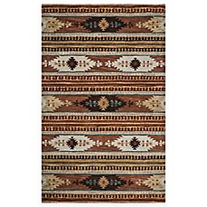 Rizzy Home Southwest Thin Stripe Multicolor Rug Bed Bath