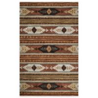 Rizzy Home Southwest Thin Stripe 5-Foot x 8-Foot Multicolor Area Rug