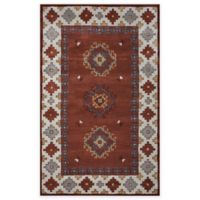 Rizzy Home Southwest Diamond Border 8-Foot x 10-Foot Area Rug in Tan