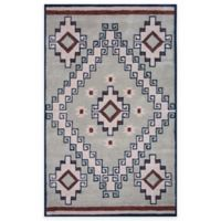 Rizzy Home Southwest Center Diamond 9-Foot x 12-Foot Area Rug in Grey