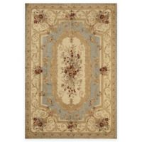 Rugs America Sorrento 5-Foot 3-Inch x 7-Foot 10-Inch Aubusson Area Rug in Light Blue