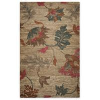 Rizzy Home 5-Foot x 8-Foot Autumn Floral Area Rug in Natural