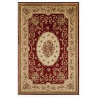 Rugs America Sorrento Medallion 5-Foot 3-Inch x 7-Foot 10-Inch Area Rug in Red