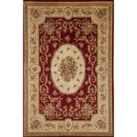 Rugs America Sorrento Medallion 6-Foot 7-Inch x 9-Foot 6-Inch Area Rug in Red