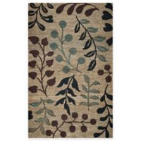 Rizzy Home 5-Foot x 8-Foot Floral Branches Area Rug in Natural