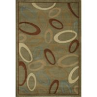 Rugs America Torino 2-Foot 3-Inch x 7-Foot 10-Inch Circles Area Rug in Green