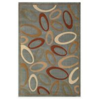 Rugs America Torino 5-Foot 3-Inch x 7-Foot 10-Inch Circles Area Rug in Blue