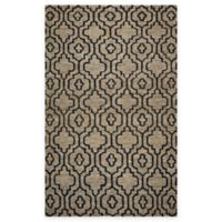 Rizzy Home 5-Foot x 8-Foot Damask Trellis Area Rug in Natural