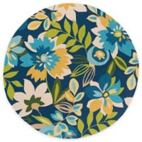 Surya Piute 8-Foot Round Indoor/Outdoor Area Rug in Cobalt