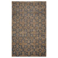 Rizzy Home 5-Foot x 8-Foot Damask Area Rug in Natural/Slate