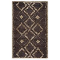 Rizzy Home Whittier Diamonds 3-Foot x 5-Foot Accent Rug in Brown