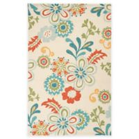 Surya Rain Santiago 2-Foot x 3-Foot Indoor/Outdoor Area Rug in Aqua