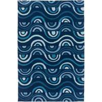 Surya Sinai 2-Foot x 3-Foot Indoor/Outdoor Accent Rug in Blue