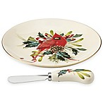 Lenox® Winter Greetings® Cheese Plate with Knife
