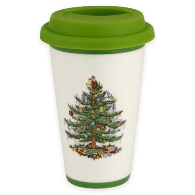 Spode® Christmas Tree Travel Mug With Lid