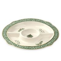 Spode® Christmas Tree Embossed Chip and Dip