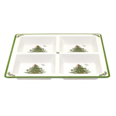 Spode® Christmas Tree Melamine 4-Section Tray  sc 1 st  Bed Bath u0026 Beyond : sectional tray - Sectionals, Sofas & Couches